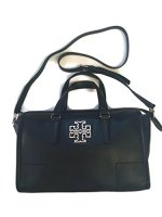 Tory Burch Britten Satchel Bag in Black