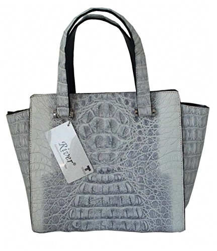 Authentic Crocodile Skin Satchel Hobo Strap Handbag