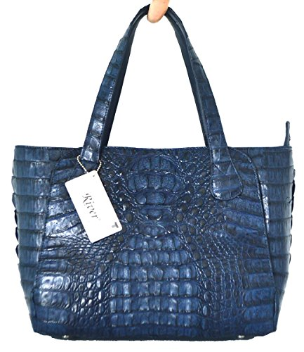 Crocodile Skin Womens Hornback Bag Tote