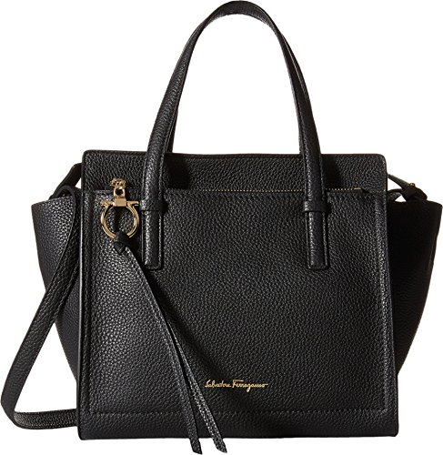 Salvatore Ferragamo Amy Small Tote Black Bag