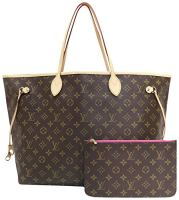 LV Neverfull Style Canvas Woman Organizer Handbag