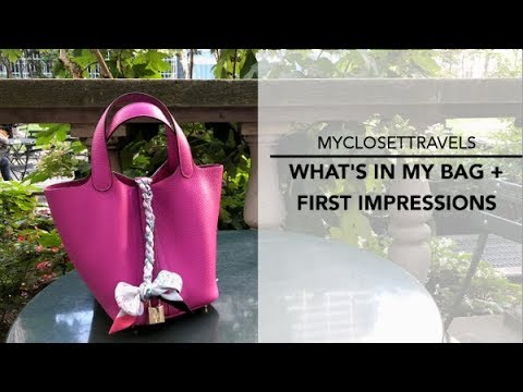 What's In My Bag + First Impressions (Hermes Picotin 18) | myclosettravels