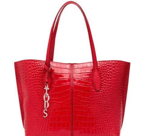 crocodile effect tote bag