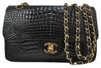 Chanel Black Crocodile Shoulder Bag