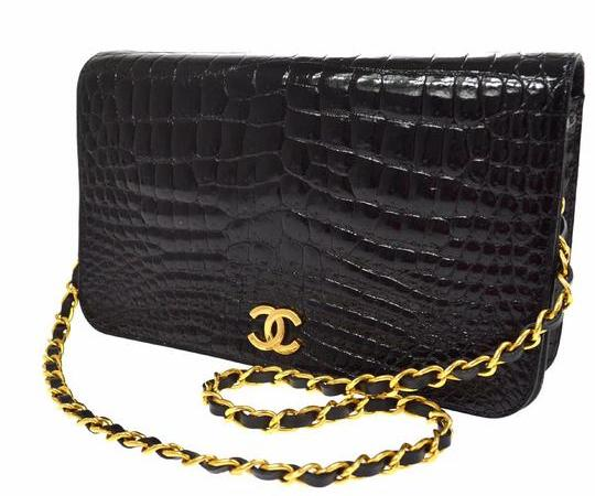 Chanel Rare Crocodile Skin Leather Shoulder Bag