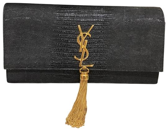 Saint Laurent Tassel Faux crocodile Bag