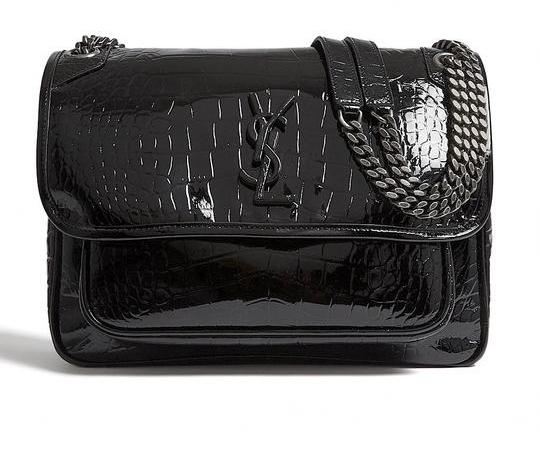 Saint Laurent Nikki Crocodile Shoulder Bag