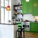 Pink Walls Mint Cabinets Retro Kitchen Black Counters