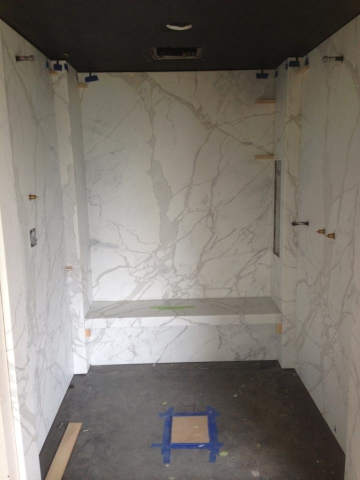 Merveilleux 1cm Marble Slab Shower Walls