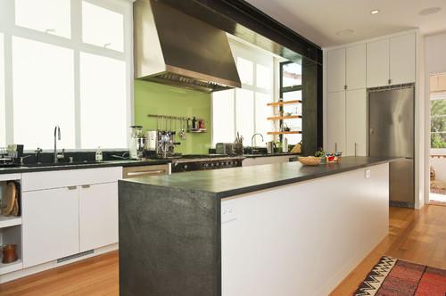 Soapstone Kitchen countertops with a waterfall edge – CROCODILE ROCKS