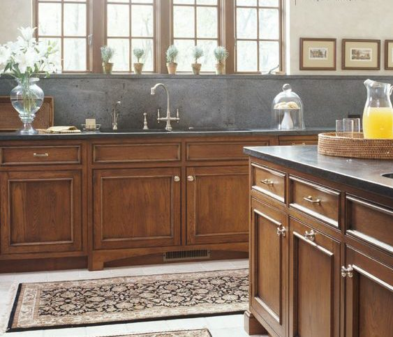 soapstone with oak cabinets