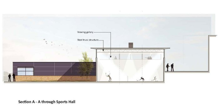 New Sports Hall Christ the King St. Mary's, Sidcup