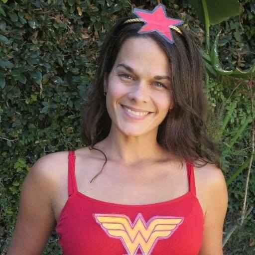 Being Wonder Woman for a Bowel Cancer Awareness fun run.