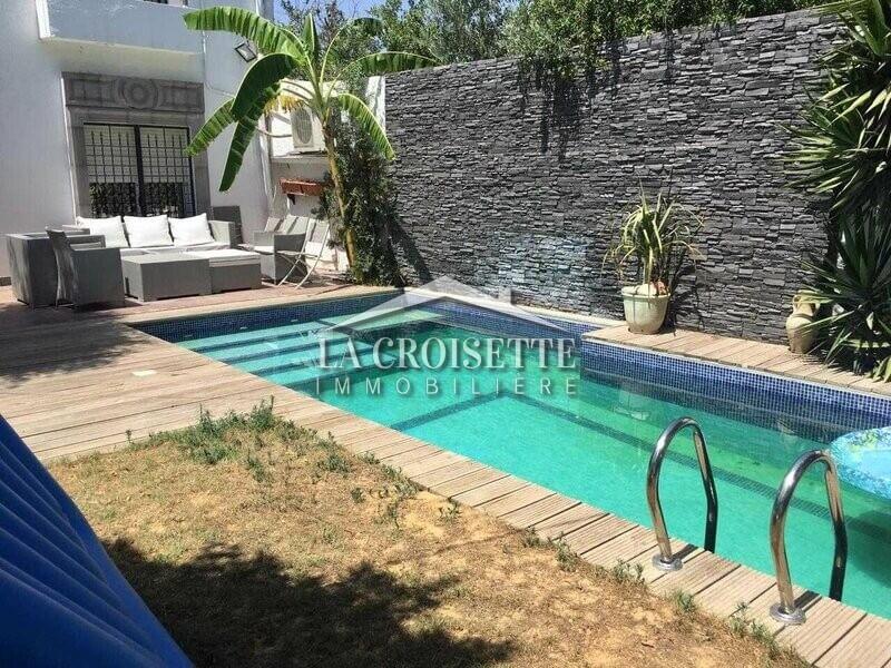 villa avec jardin et piscine a la soukra