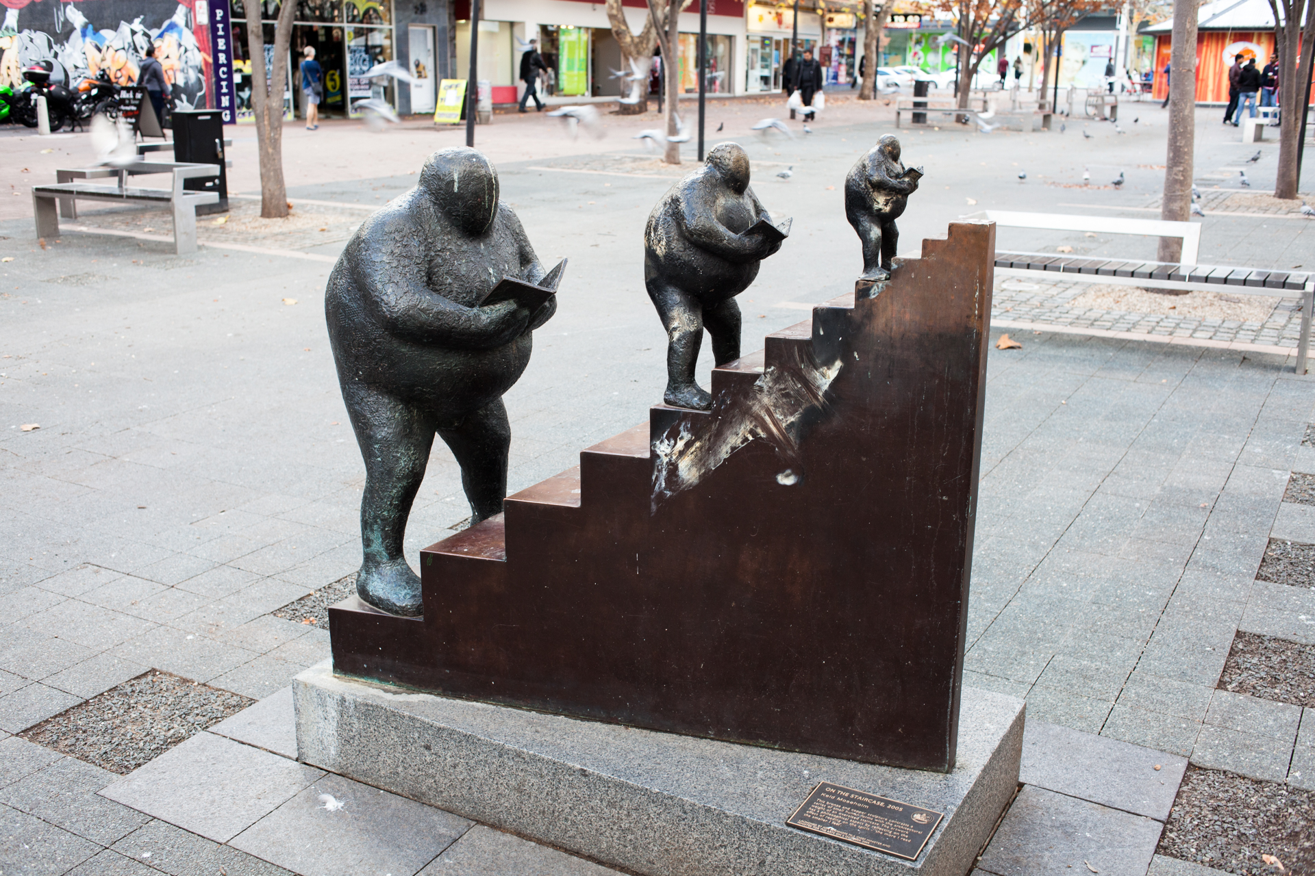 "This is maybe one of the best sculptures that I have seen. The sign says ""the more I read the smaller I feel"""