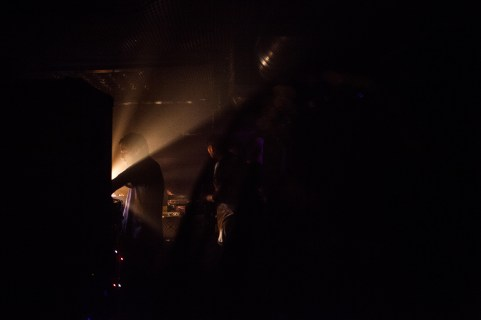 Dj'ing at a night club where Matt's friends were testing a new huge soundset