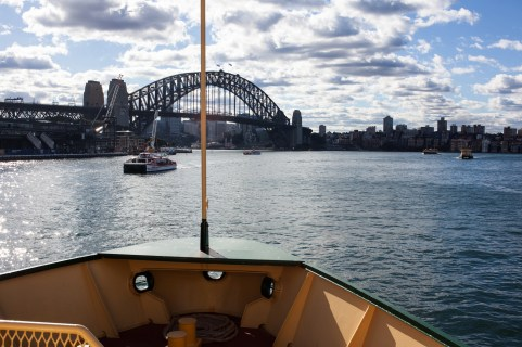 On the boat towards Manly.