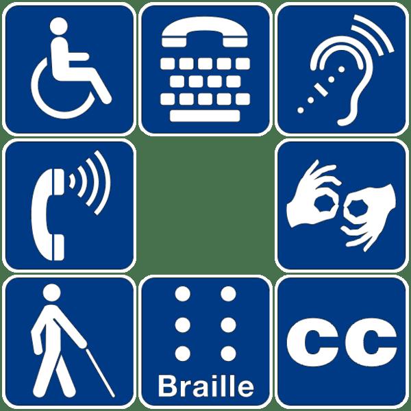 Símbolos de accesibilidad
