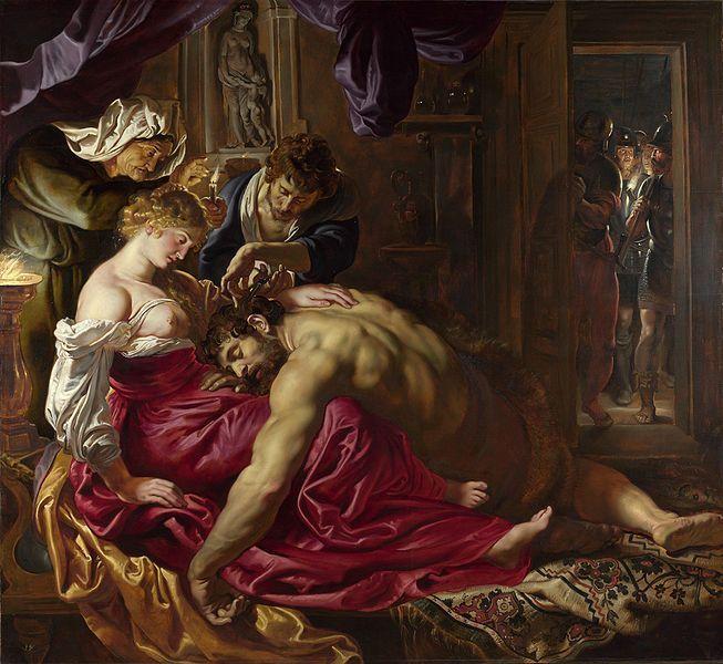 Pedro Pablo Rubens. Sansón y Dalila, 1609. Óleo sobre lienzo, 185 x 205 cm. National Gallery, Londres