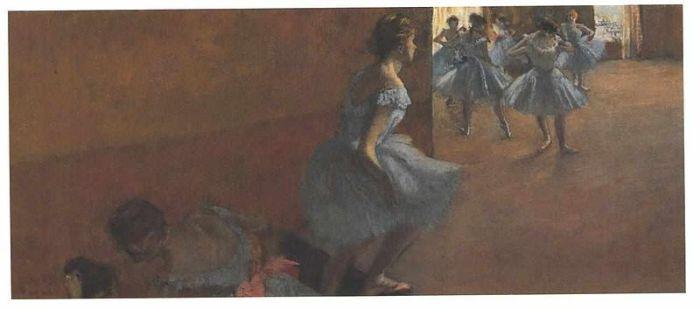 Edgar Degas Bailarinas subiendo una escalera, 1886-1888