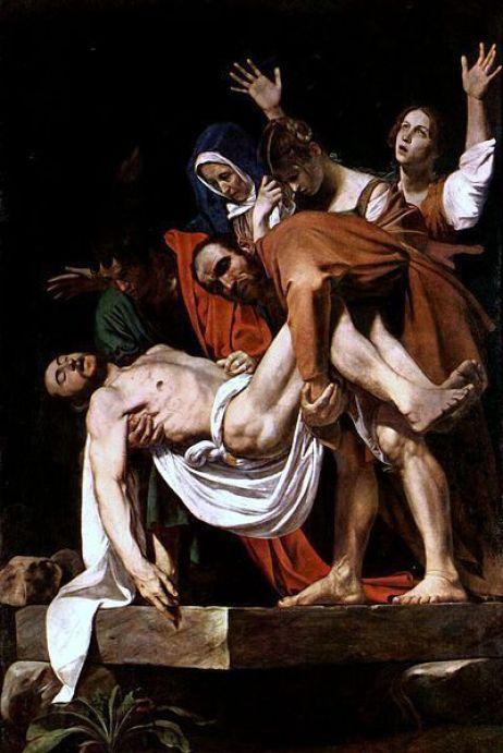 Entierro de Cristo, Caravaggio.