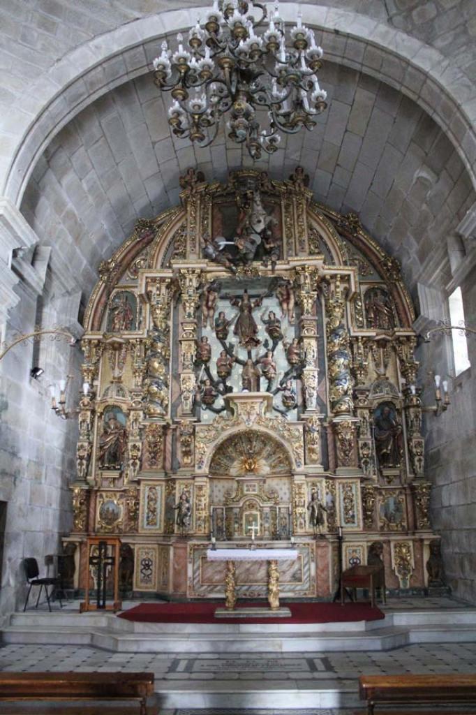 Retablo mayor, iglesia de Santa Liberata