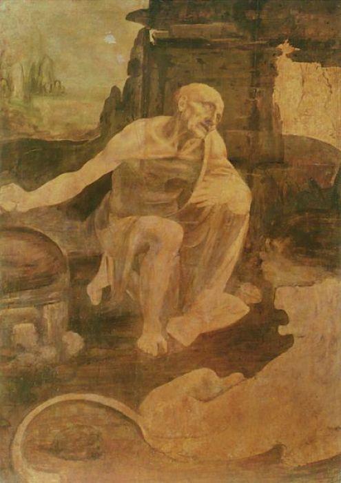 San Jerónimo Penitente, Leonardo