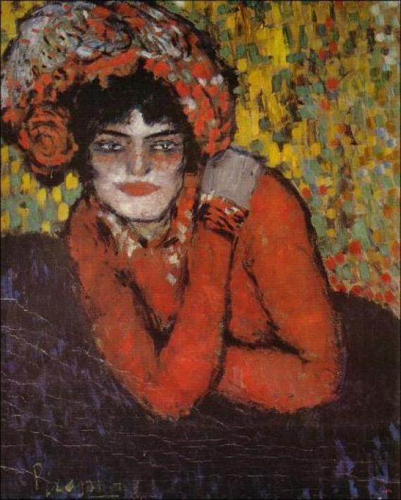 Pablo Picasso- La espera (Margot), Museo Picasso, Barcelona, 1901.
