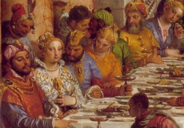 Paolo Veronese, Detalle de las bodas de Caná, Óleo sobre tela, 1563, Museo del Louvre.
