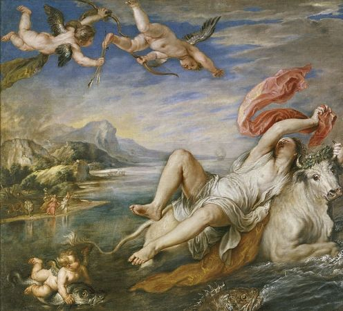Rapto de Europa, Pedro Pablo Rubens, 1628-29, Museo del Prado, Madrid.