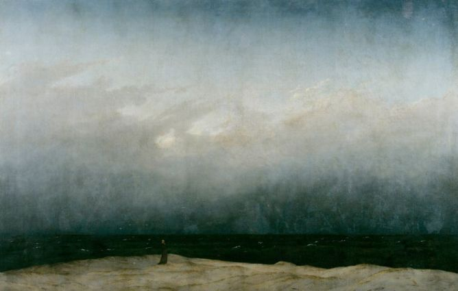 Caspar David Friedrich, Monje mirando al mar.