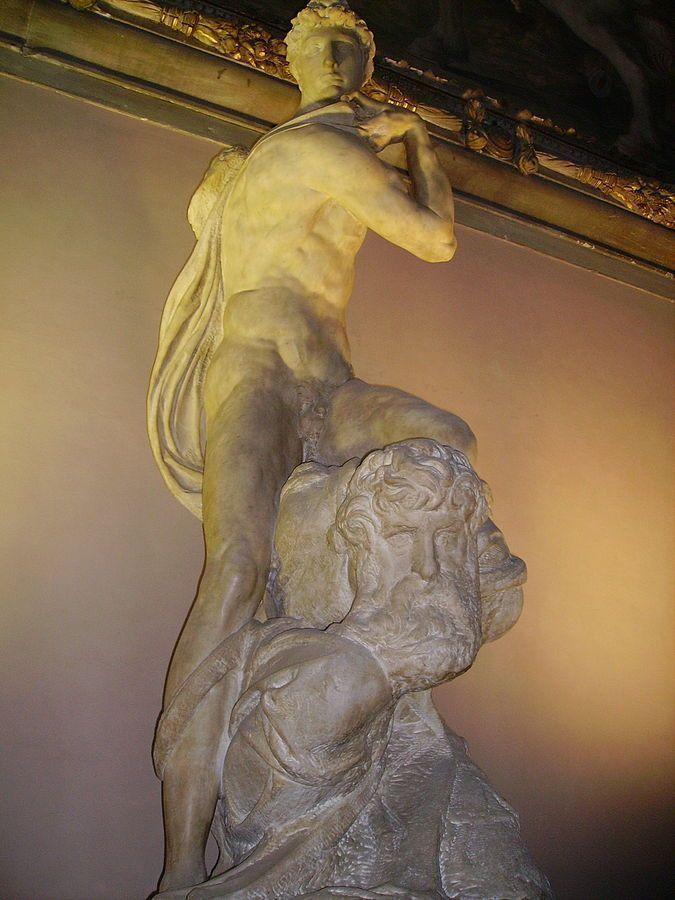 Miguel Ángel - Genio de la Victoria, 1532-34. Palazzo Vecchio, Florencia.