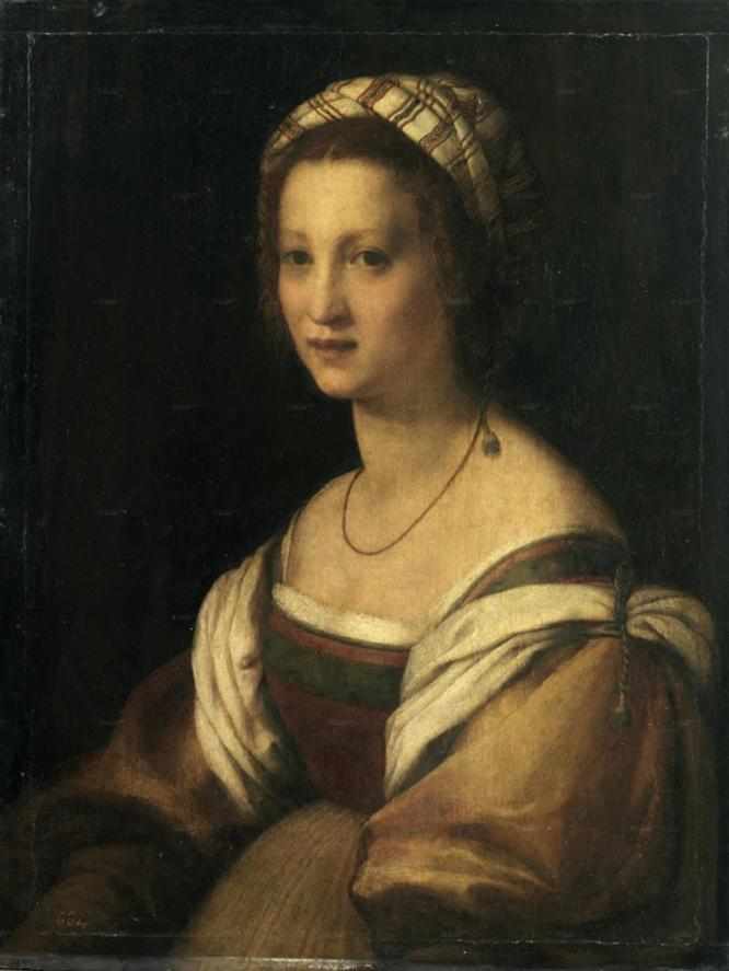 Andrea del Sarto, Retrato de Lucrecia di Baccio del Fede, 1522, Museo del Prado.