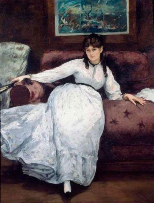 Èdouard Manet, El descanso (Retrato de Berthe Morisot), 1870