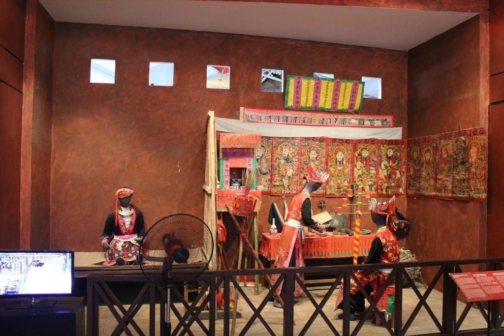 Ceremonia de iniciación de la provicia de Yen Bai, Museo Etnológico de Hánoi, Vietnam.
