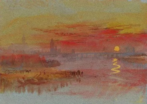 William Turner, The Scarlet sunset, 1830-1840.