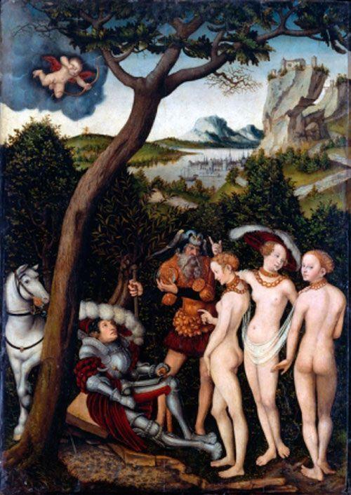 Lucas Cranach el Viejo, El juicio de Paris, 1528, Metropolitan Museum, Nueva York.