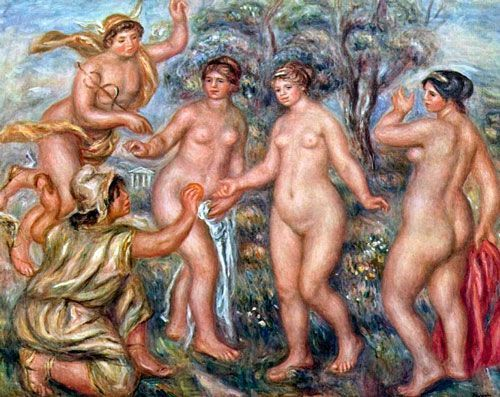 Renoir, El Juicio de Paris, 1913, Hiroshima Museum of Art.