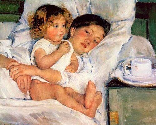 Mary Cassatt, Desayuno en la cama, 1897