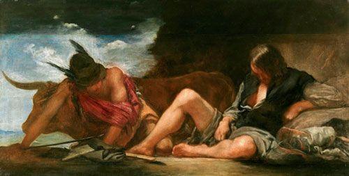 Velázquez, Mercurio y Argos, 1659, Museo del Prado