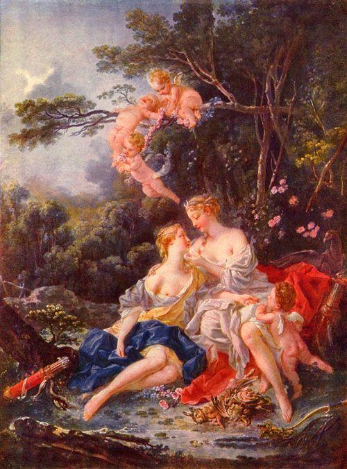 Boucher, Júpiter y Calisto, 1744, Pushkin Museum