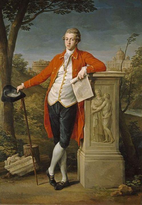 Francis Basset, Ier barón de Dunstanville, durante su Grand Tour, Pompeo Batoni, 1778. Museo del Prado