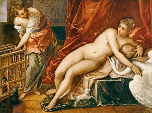 Tintoretto, Leda y el Cisne, 1557, Galería de los Uffizi, Florencia