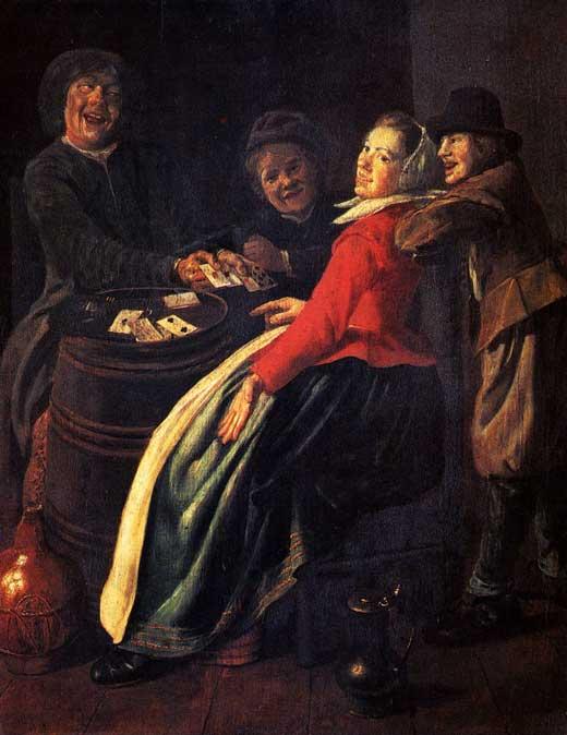 Judith Leyster, Juego de Cartas, Colección privada