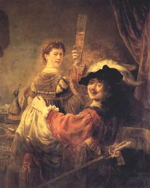 Rembrandt y Saskia