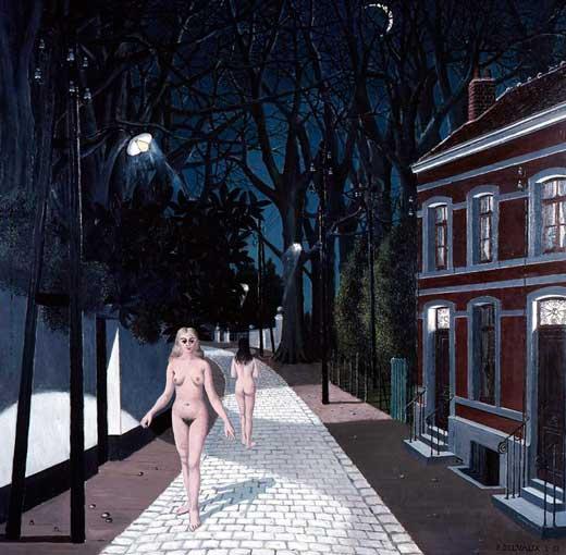 Paul Delvaux, El camino.