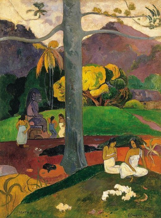Paul Gauguin, Mata Mua (Érase una vez), 1892, Museo Thyssen-Bornemisza, Madrid.