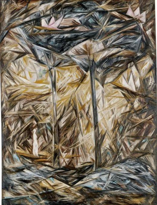 Natalia Goncharova, El bosque, 1913, Museo Thyssen-Bornemisza, Madrid.