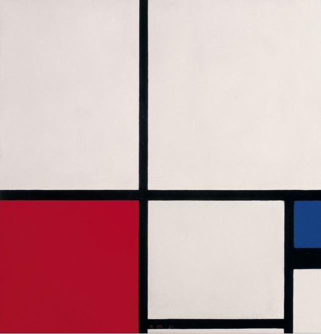 Piet Mondrian, Composición I, 1931, Museo Thyssen-Bornemisza, Madrid.