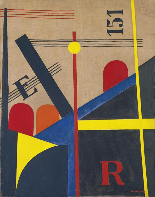 László Moholy-Nagy, Gran pintura del ferrocarril, 1920, Museo Thyssen-Bornemisza, Madrid.